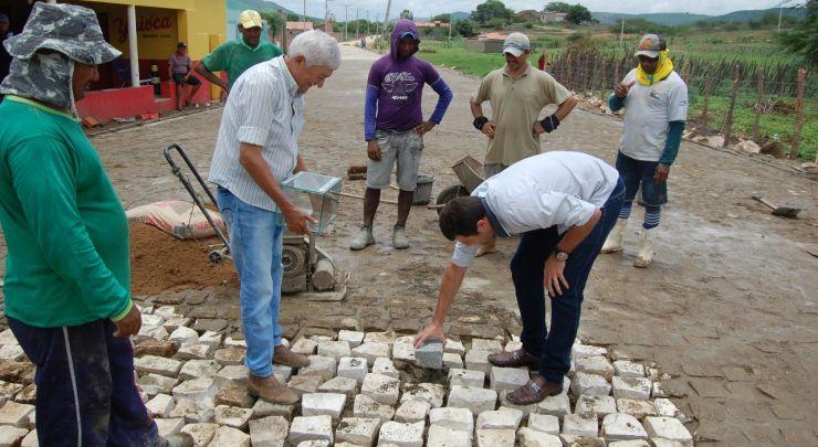 Conclusão da obra do calçamento da comunidade de Sítio Merejo