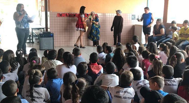 Projeto sobre alimentação saudável é desenvolvido nas Escolas da rede Municipal