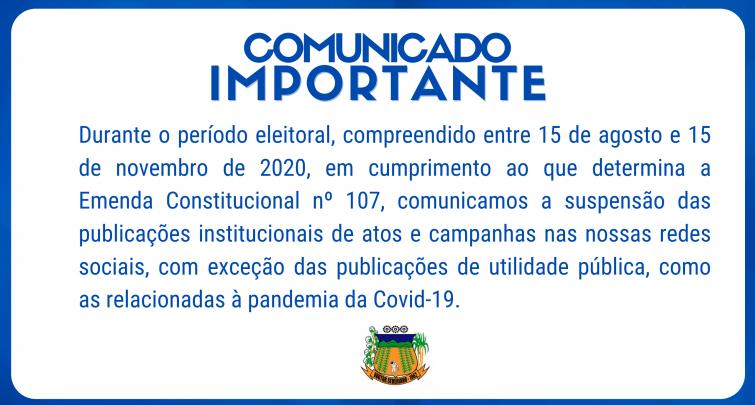 CONDUTA PARA O PERÍODO ELEITORAL 2020