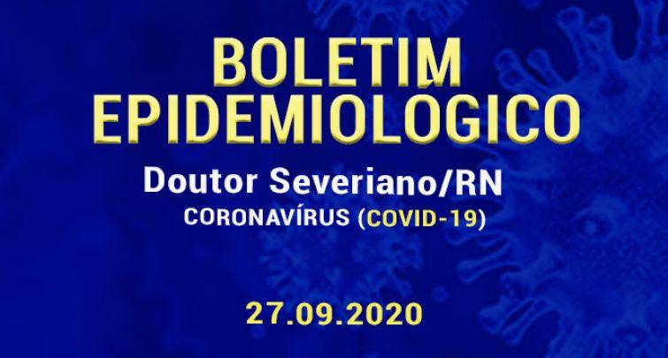 BOLETIM EPIDEMIOLÓGICO - 27.09.2020
