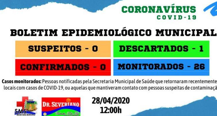 Boletim Epidemiológico Municipal 28/04/2020