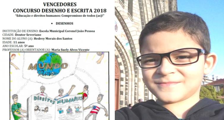 ESTUDANTE DA ESCOLA MUNICIPAL CORONEL JOÃO PESSOA É VENCEDOR DO CONCURSO DE DESENHO E ESCRITA DA UNDIME/RN