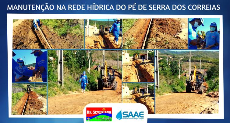 Manutenção na Rede Hídrica do Sítio Pé de Serra dos Correias