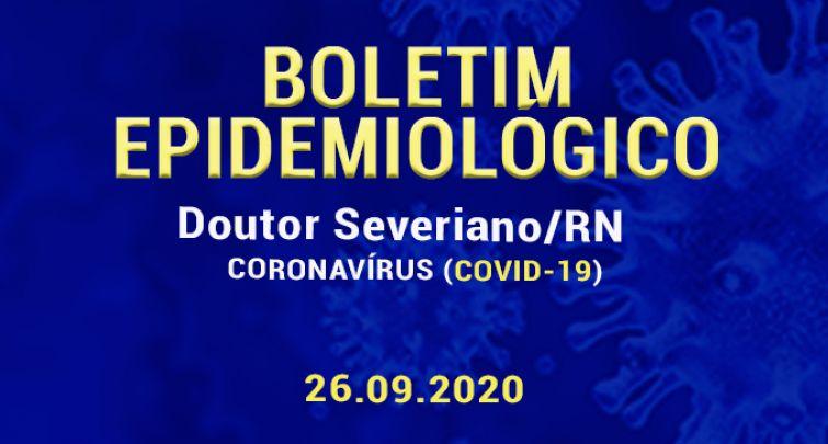 BOLETIM EPIDEMIOLÓGICO - 26.09.2020