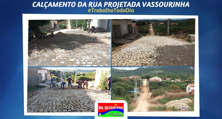 Pavimentação da Rua Projetada Vassourinha