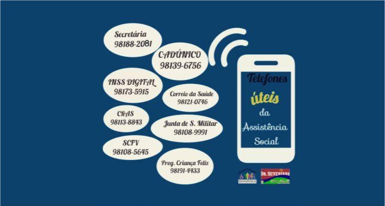 Assistência Social - Telefones para atendimento