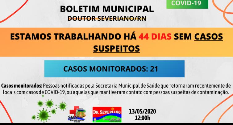 Boletim Diário 13/05/2020