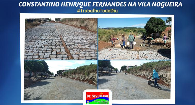 Pavimentação da Rua Constantino Henrique Fernandes na Vila Nogueira.