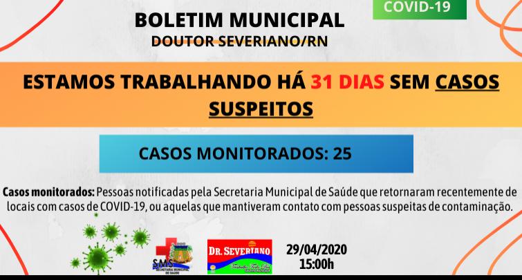 Boletim Municipal 29/04/2020
