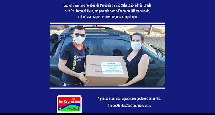 Doação de Máscaras organizada pelo Pe. Antoniel Alves