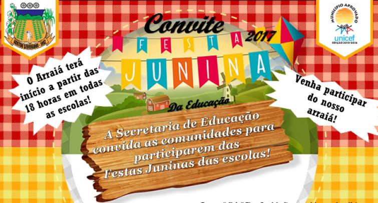 Divulgado calendário das festividades juninas das escolas municipais
